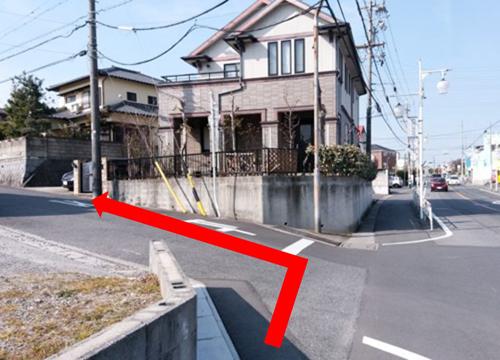 名鉄河和線青山駅からの道順⑥